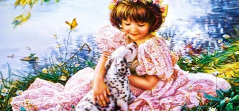 Девочка и далматин